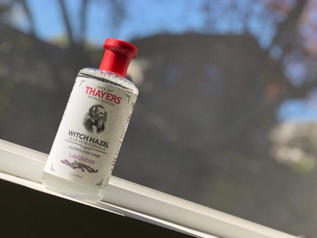 Thayers facial toner lavender package design