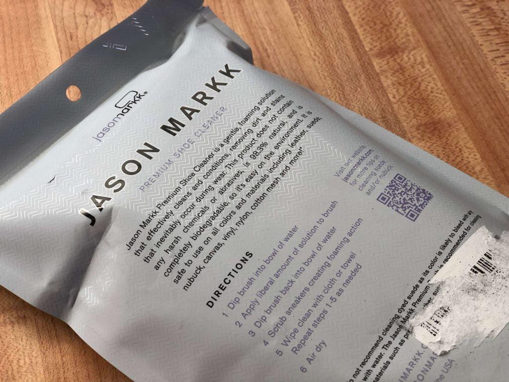 ジェイソンマークパッケージ裏の商品説明