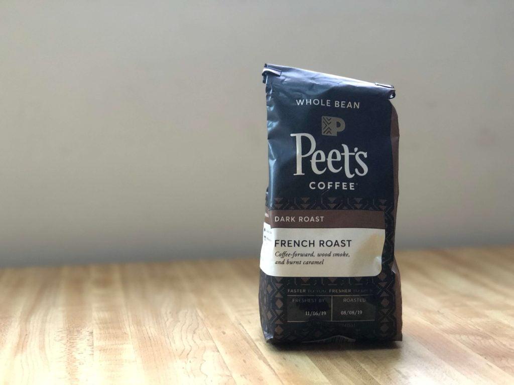 家庭用ピーツコーヒーフレンチローストのパッケージ