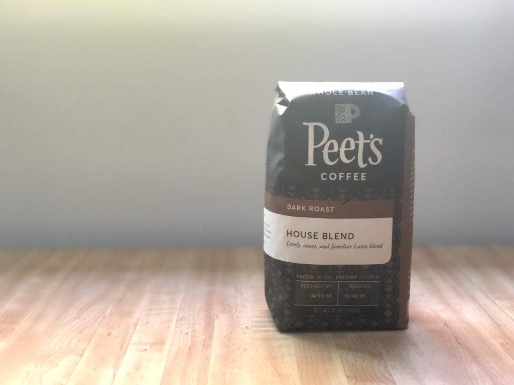 家庭用ピーツコーヒーハウスブレンドのパッケージ