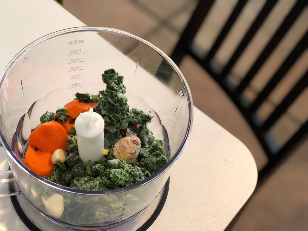 BRAUNハンドブレンダー(マルチクイック7)でみじん切りにする前の野菜