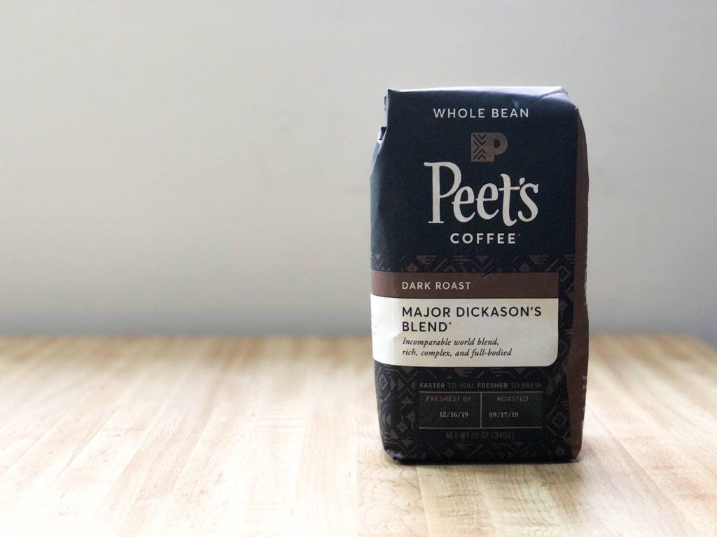 家庭用ピーツコーヒーメジャーディッカーソンのパッケージ