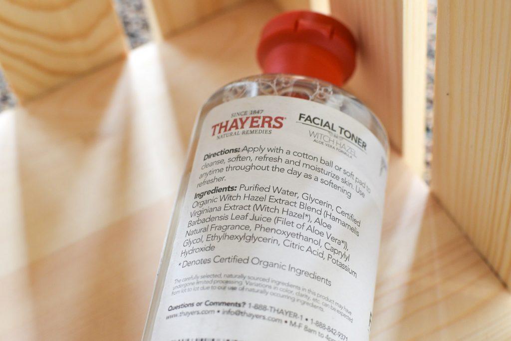 セイヤーズ化粧水アルコールフリー(オリジナル)のボトル裏面原料表示