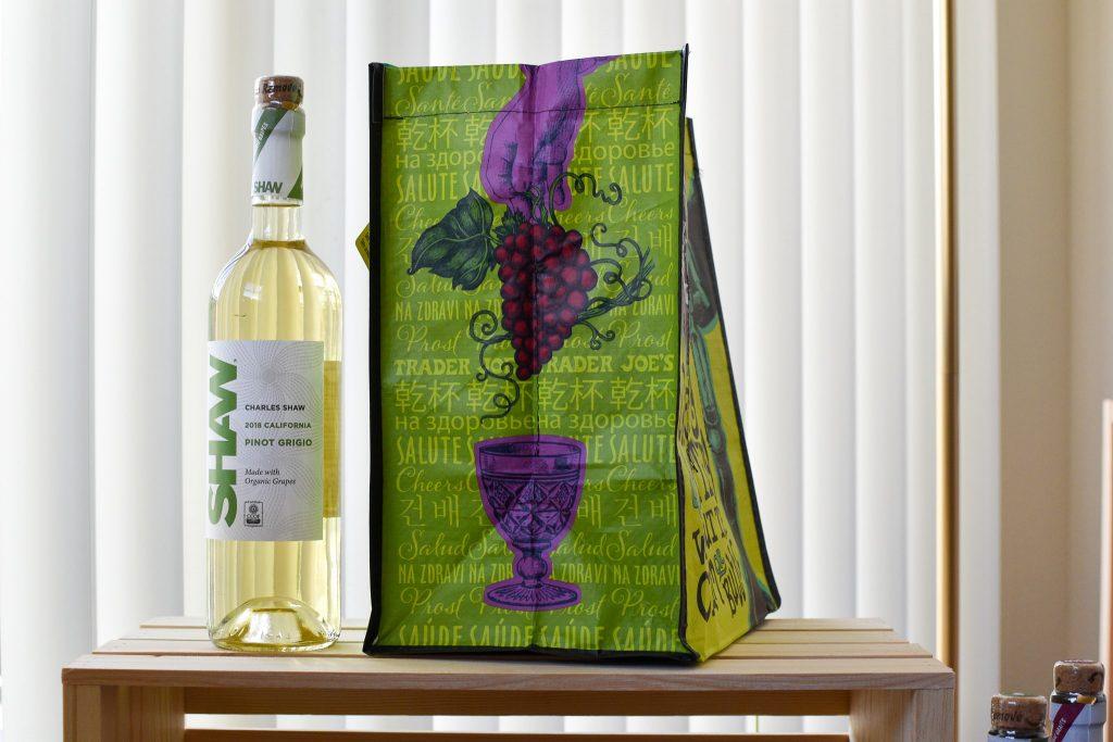 トレーダージョーズのポリプロピレン製ワインボトル用エコバッグ